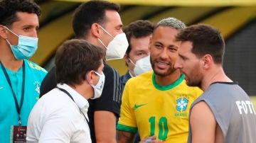 Messi, en el Brasil - Argentina