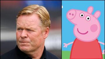 Ronald Koeman y Peppa Pig