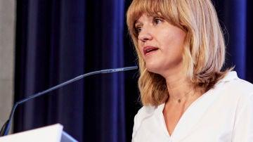 La ministra de Educación, Pilar Alegría, en un acto con empresarios