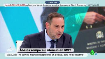 """José Luis Ábalos, sobre su salida del Gobierno: """"He sufrido muchas decepciones, pero esta no lo fue"""""""