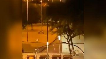 Imágenes del momento del tiroteo