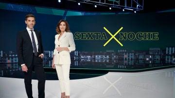 José Yélamo y Verónica Sanz, presentadores de laSexta Noche