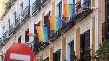 Balcones del barrio madrileño de Malasaña