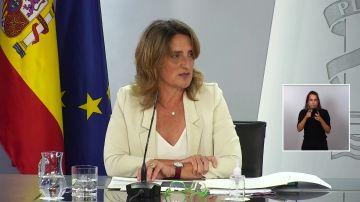 Teresa Ribera en rueda de prensa