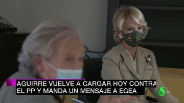 """Esperanza Aguirre contraataca contra Egea: """"Ojalá tenga la conciencia tan tranquila en unos años como yo"""""""