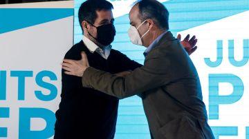 Jordi Sànchez junto a Jordi Turull