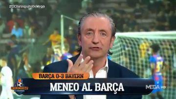 """Pedrerol, enfadado como nunca en 'El Chiringuito': """"¡Sois el Barça, un respeto al escudo!"""""""