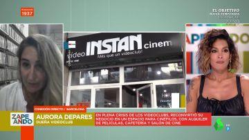 """La reivindicación de la dueña de un videoclub en Zapeando: """"No hay que usar Amazon, hay que ir a las librerías"""""""