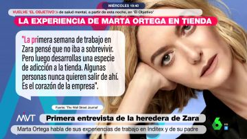 """Marta Ortega confiesa que su primer puesto en Inditex fue en una tienda de Londres: """"Pensé que no iba a sobrevivir"""""""