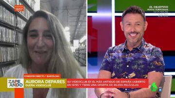 """La confesión de Iñaki Urrutia que sorprende a una entrevistada en Zapeando: """"Soy socio de tu videoclub"""""""