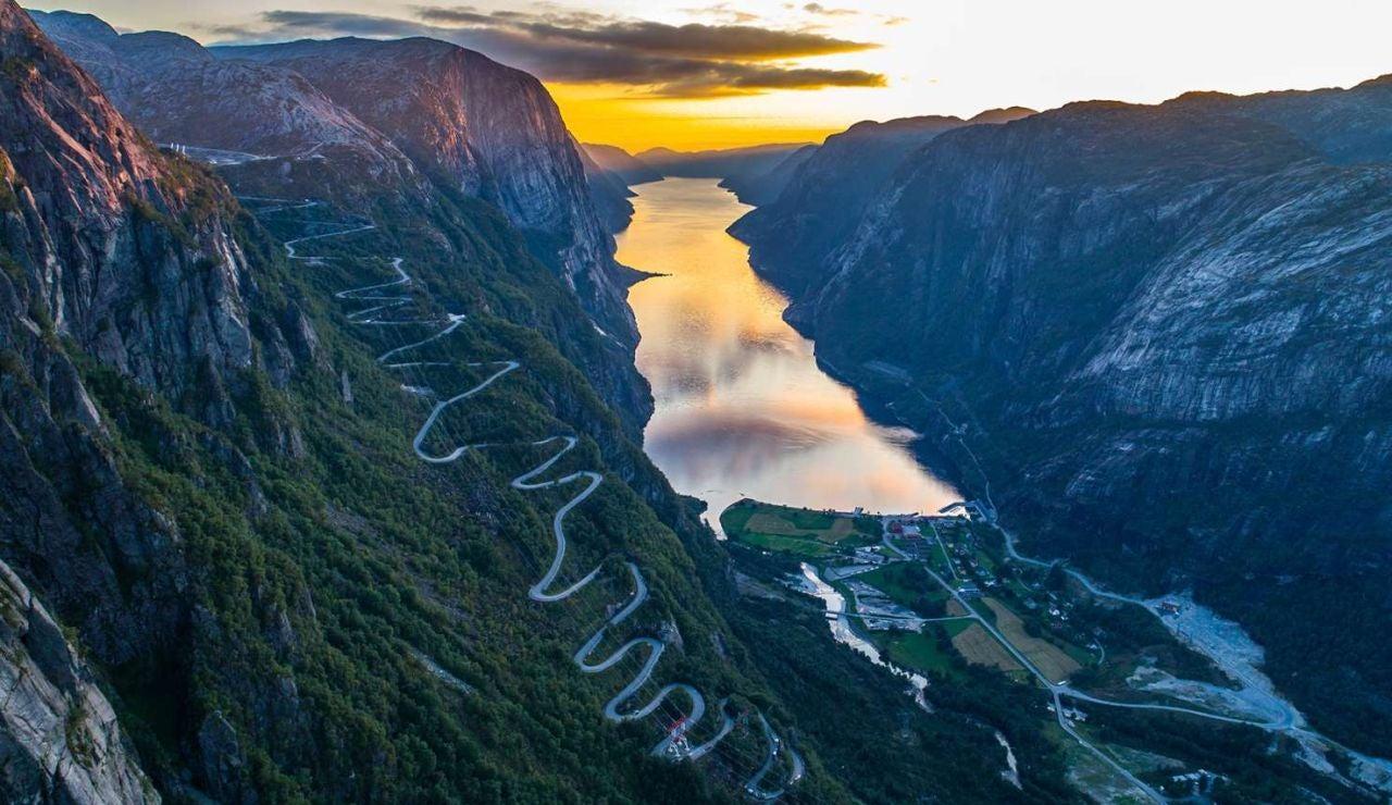 Carretera de infarto en Noruega
