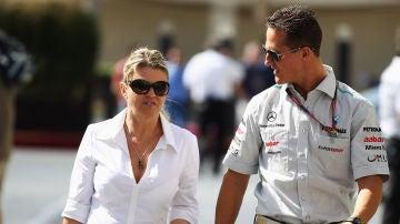 Corinna y Michael Schumacher