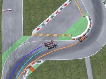 Reconstruyen en 3D el accidente entre Hamilton y Verstappen: ¿Tuvo más culpa Lewis que Max?