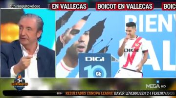 """Josep Pedrerol, dolido en 'El Chiringuito' por lo sucedido con Falcao: """"Queda como que Vallecas boicotea su presentación"""""""