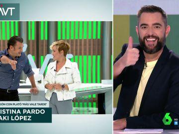 Iñaki López se acuerda de Jordi Évole para piropear a Dani Mateo en pleno directo