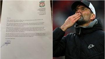 Increíble gesto de Jürgen Klopp: envió una carta a un aficionado del Liverpool con cáncer