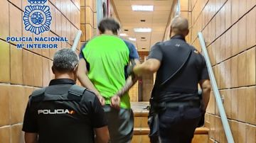 Imagen del detenido por intentar asfixiar a su madre en Gran Canaria