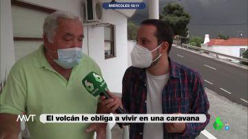 """Un reportero de laSexta se queda """"en shock"""" tras entrevistar a uno de los afectados por la erupción en La Palma"""