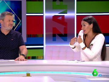 """El pique de Cristina Pedroche tras un chiste de Miki Nadal: """"Su chica es una de mis mejores amigas, me da rabia que haga este humor"""""""
