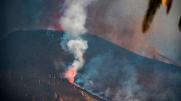 Imagen del volcán de La Palma en erupción