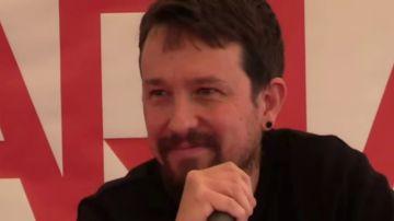 """Interrumpen un acto de Pablo Iglesias al grito de """"dónde está el cambio, dónde está el progreso"""""""