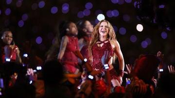 Shakira, en una actuación en la SuperBowl en 2020