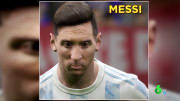 Imagen de Messi en un videojuego