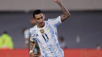 Ángel di María, durante un partido con la selección argentina