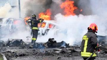 Accidente aéreo en Milán