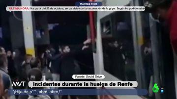 Tensión en la huelga de Renfe