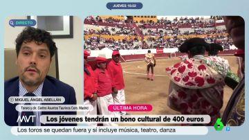 """Miguel Abellán habla de """"censura cultural"""" por la exclusión de los toros del bono del Gobierno"""