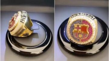 Griezmann encarga un anillo 'NBA' para celebrar la Copa con el Barça