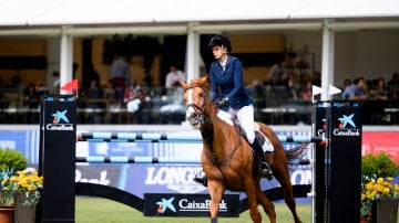 Athina Onassis en una competición en el Club de Campo Villa de Madrid en 2019