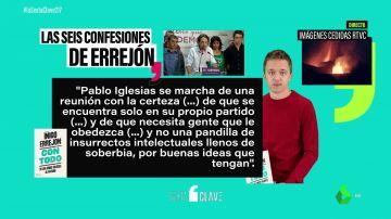 """""""El partido se ha entregado al soberano"""": seis confesiones de Íñigo Errejón sobre Podemos y Pablo Iglesias"""