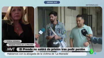 """La abogada de la víctima de 'La Manada' ve """"una táctica jurídica"""" en la carta de El Prenda"""
