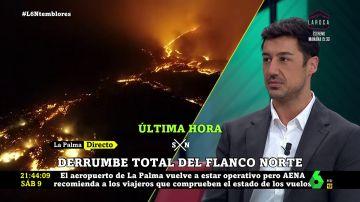 Francisco Cacho, meteorólogo de laSexta, analiza la situación del volcán de La Palma