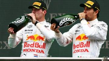 Max Verstappen y Sergio Pérez