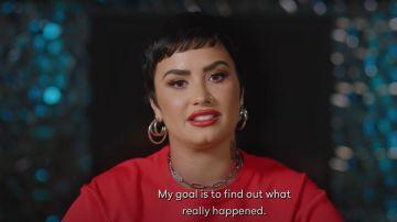 Fotograma del tráiler de su documental, 'Unidentified with Demi Lovato'.