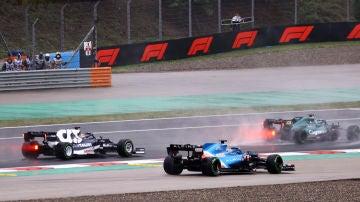 Incidente entre Fernando Alonso y Pierre Gasly en Turquía