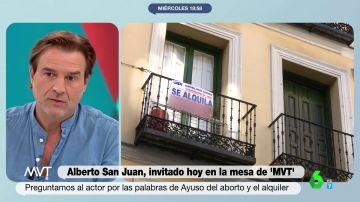 La contundente respuesta de Alberto San Juan a Díaz Ayuso tras sus polémicas palabras sobre los inquilinos de alquiler