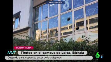 Detienen a un joven de 21 años tras efectuar 12 disparos en el campus universitario de Leioa, Bizkaia