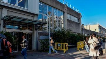 El campus de Leioa (Bizkaia) de la Universidad del País Vasco trata de volver este jueves a la normalidad