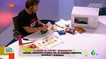 """Gipsy Chef crea en directo el snack del futuro con nachos, chocolate blanco, sal y naranja: """"Esta mezcla es dios"""""""