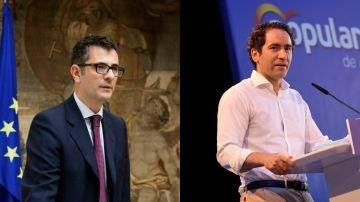 Félix Bolaños, ministro de Presidencia, y Teodoro García Egea, secretario general del PP