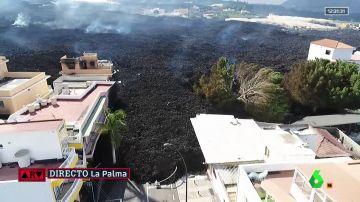 El avance imparable de la lava en La Palma