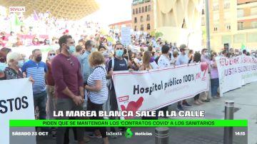Protesta de la Marea Blanca en Sevilla