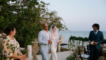 Vin Diesel acompaña a Meadow Walker al altar
