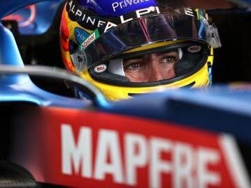 Fernando Alonso, en su Alpine