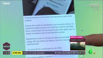 LR Certificados falsos