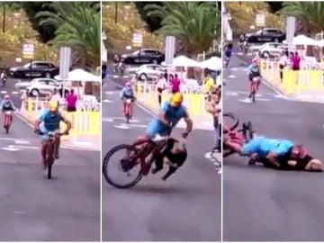 Atropello a una aficionada en una prueba ciclista en El Hierro